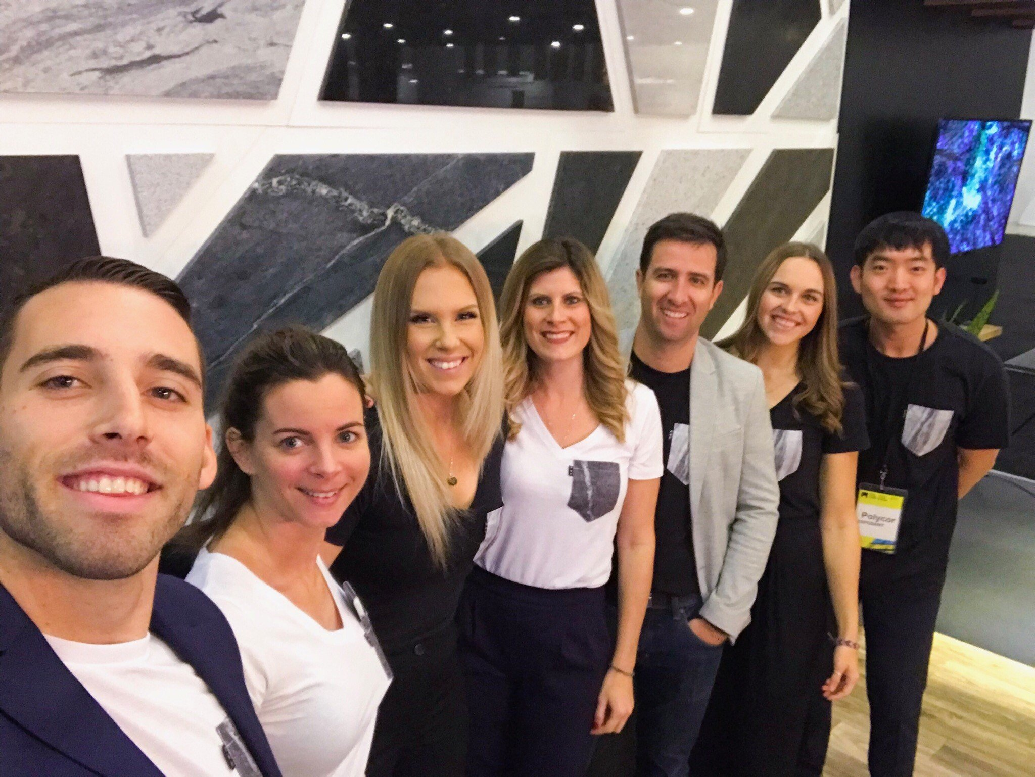 Polycor natural stone team KBIS 2018