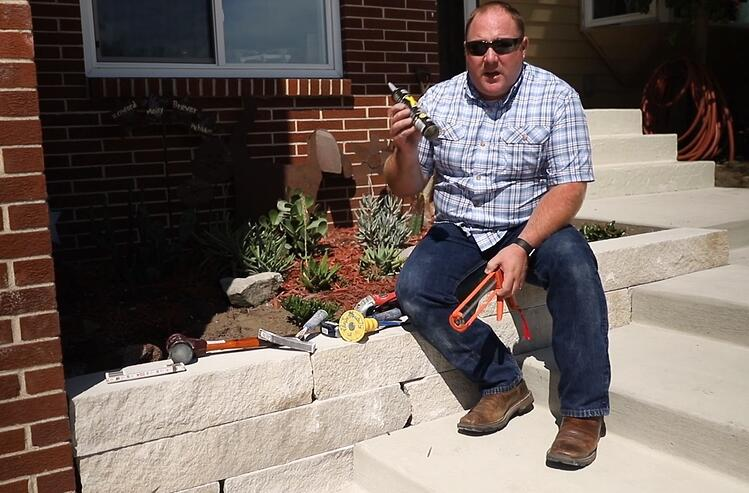 indiana limestone garden wall polycor hardscaping how to tools