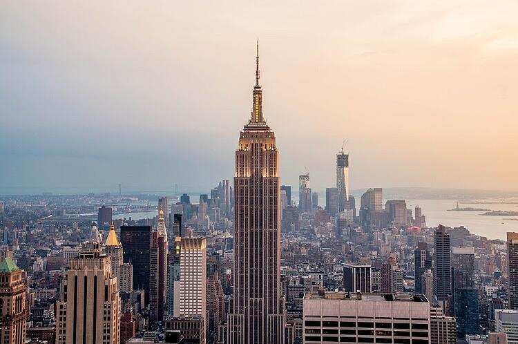 Empire State Building in New York City built with Polycor's Indiana Limestone