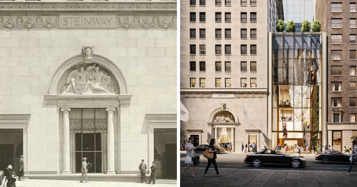 Steinway Building Before After