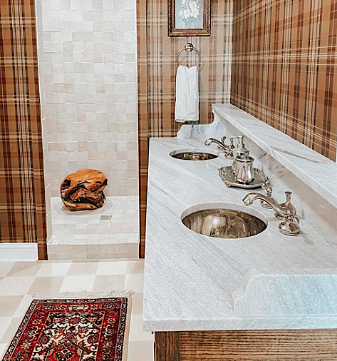 White-Cherokee-Marble-Countertop-Master-Bathroom-Polycor-Claire-Brody-Design