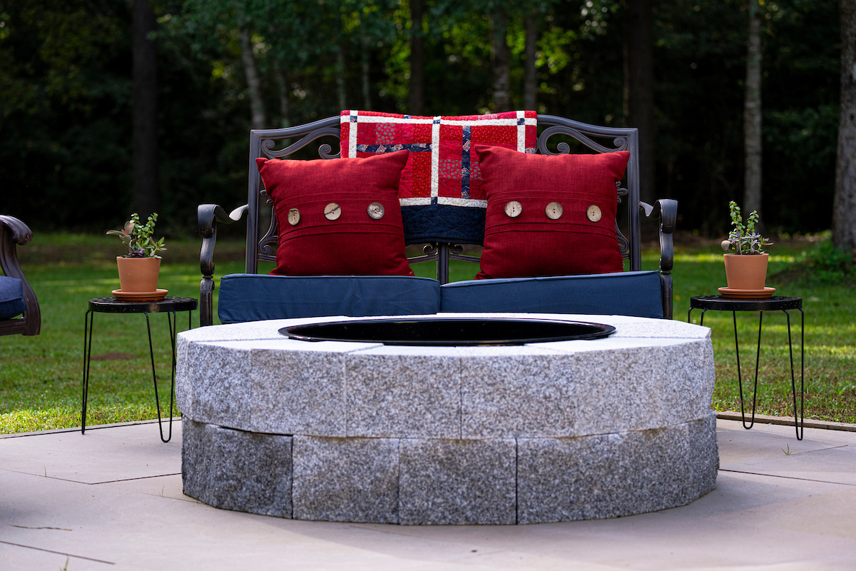 Polycor-Indiana-Limestone-Full-Color-Blend-Slab-Pavers-Edging-Woodbury-Granite-Firepit-Patio-Stacy-Pearsall-Residence-South-Carolina-1