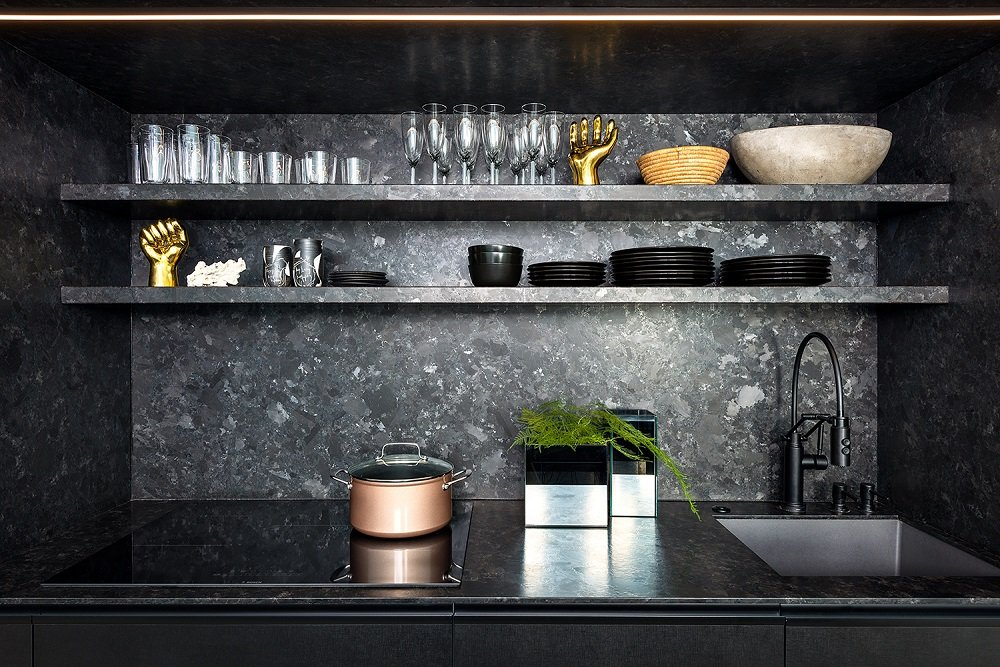 Saint-Henry-Black-Granite-1cm-Ultra-Thin-Kitchen-Project-Interiors-Chicago