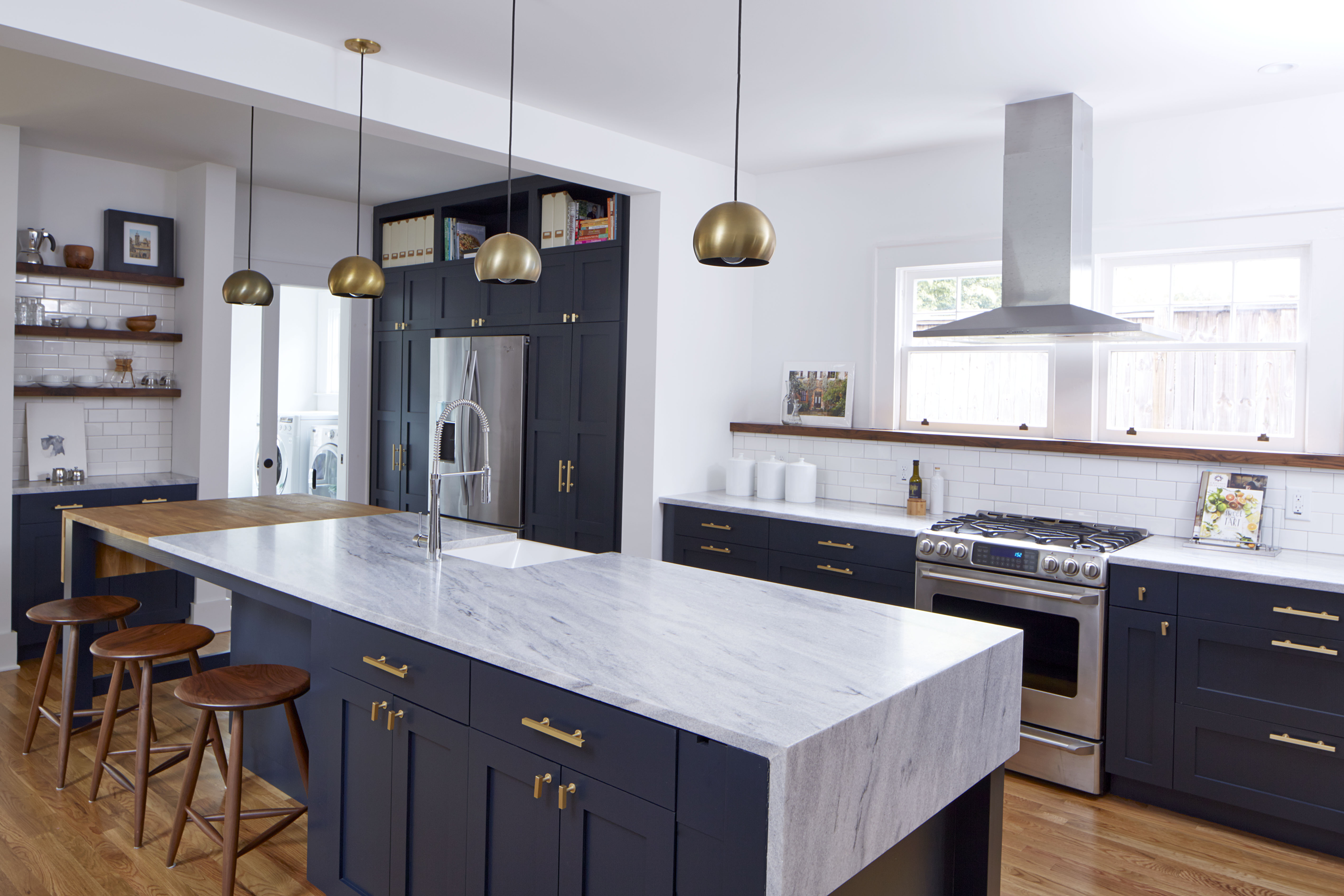 White Cherokee American Marble Kellen Minor Kitchen 7.