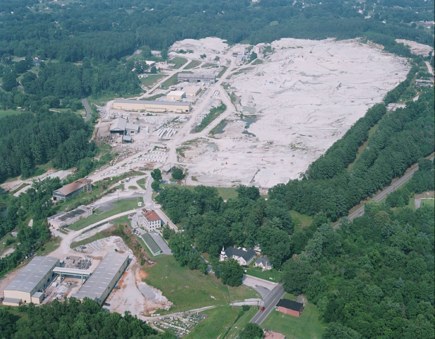 White Mount Airy quarry aerial view