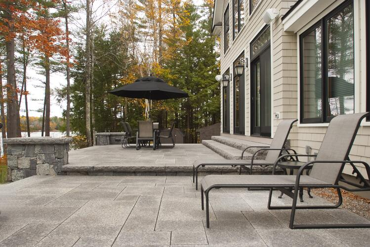 Caledonia granite steps and pavers