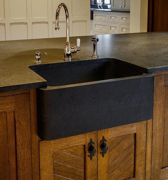 9 Rock Solid Farmhouse Sink Designs With Soapstone ... on Farmhouse Granite Countertops  id=30365