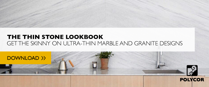 kitchen, bath, fireplace designs for thin marble slabs