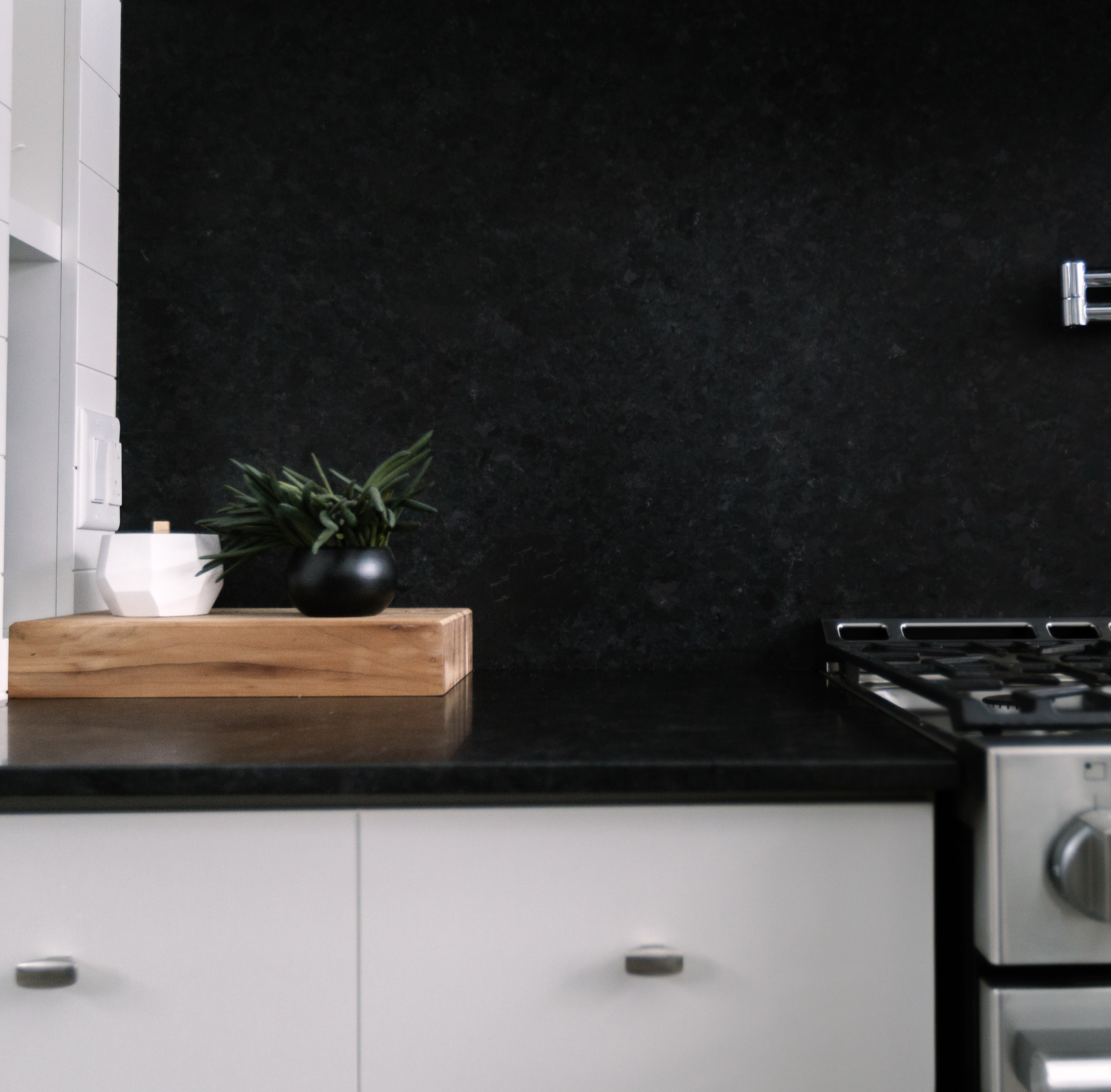 A Love Affair With Saint Henry Black Granite Kitchen