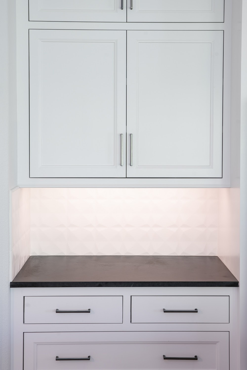 Kitchen cabinets and Alberene soapstone countertop