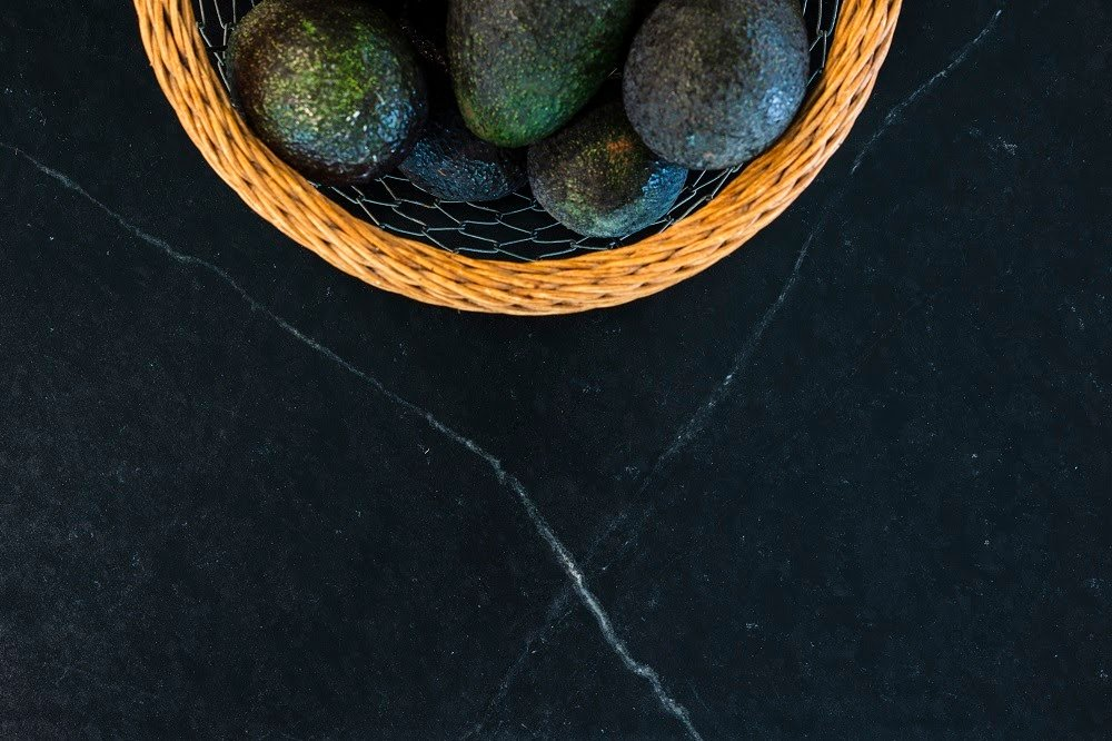 Up close photo of the Alberene soapstone countertop