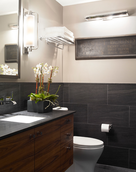 Wallace Creek Marble Makes Moody, Masculine Spaces
