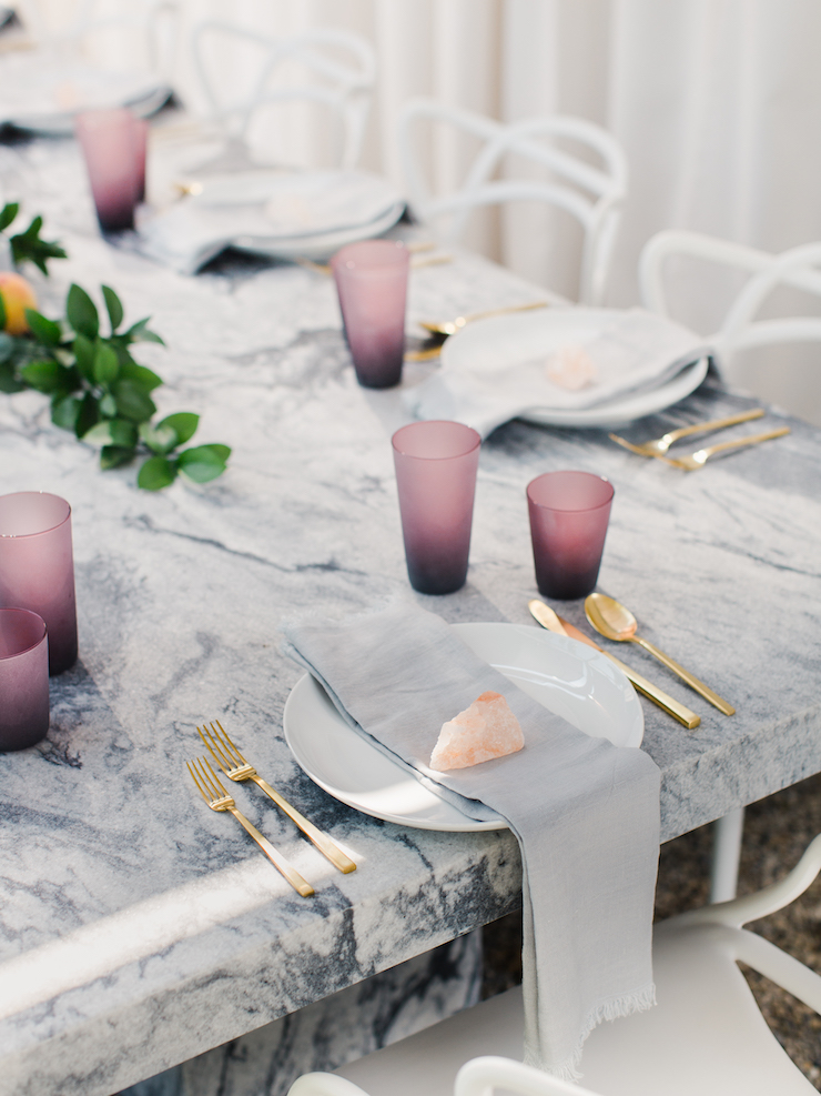 Sarah-Walker-The-Curated-House-Backyard-Makeover-table-setting-Polycor-marble-table