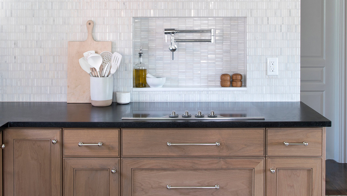 Tailored. Classic. There's Nothing Rustic About This Soapstone Kitchen